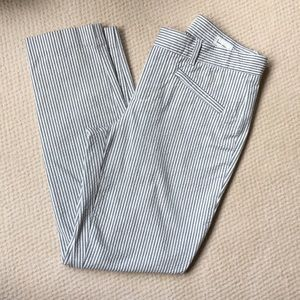 Gap Skinny Ankle Seer Sucker Pants
